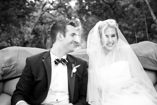 black white wedding photo classic bride and groom