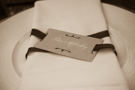 elegant wedding reception place setting
