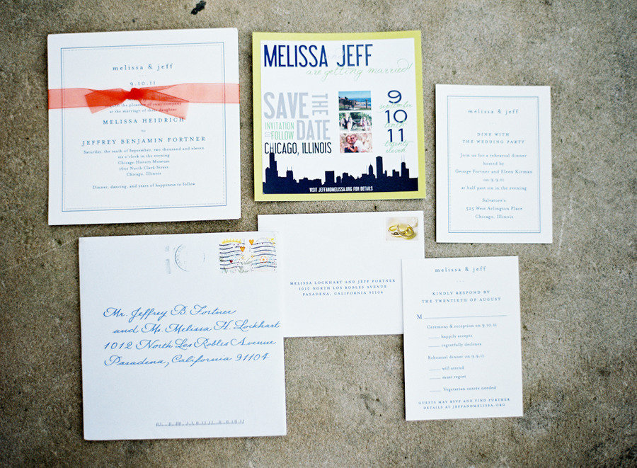 modern wedding invitations stationery suite chicago weddings,