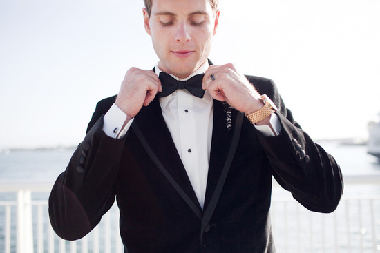 black tie groom real wedding photos