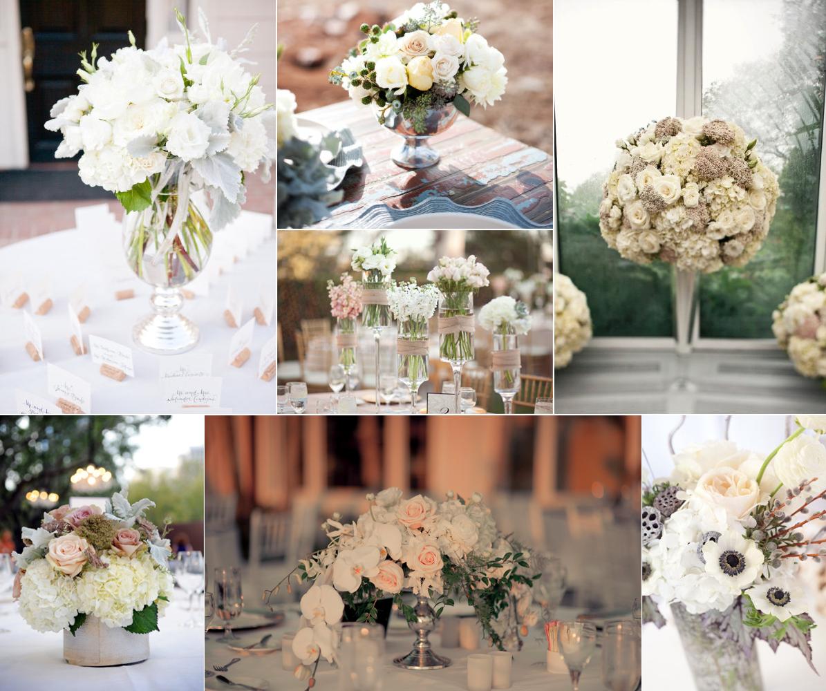 Romantic Wedding Centerpieces: Romantic Wedding Flowers Ivory Blush Tan Neutrals Wedding