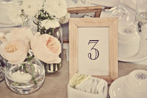 photo of neutral wedding colors vintage style wedding photography tablescape