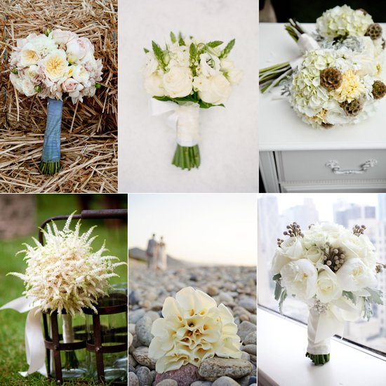 Elegant ivory and neutral bridal bouquets