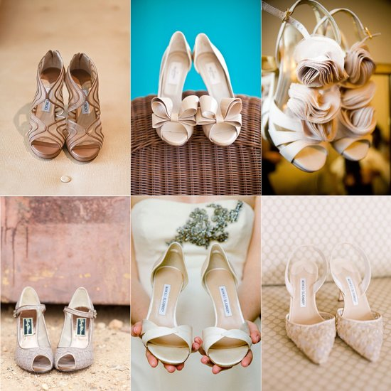 neutral wedding shoes artistic wedding photography Jimmy Choo Manolo Blahnick