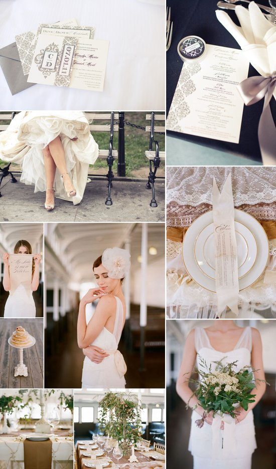 elegant wedding colors neutrals tans ivory cream blush romantic bridal style