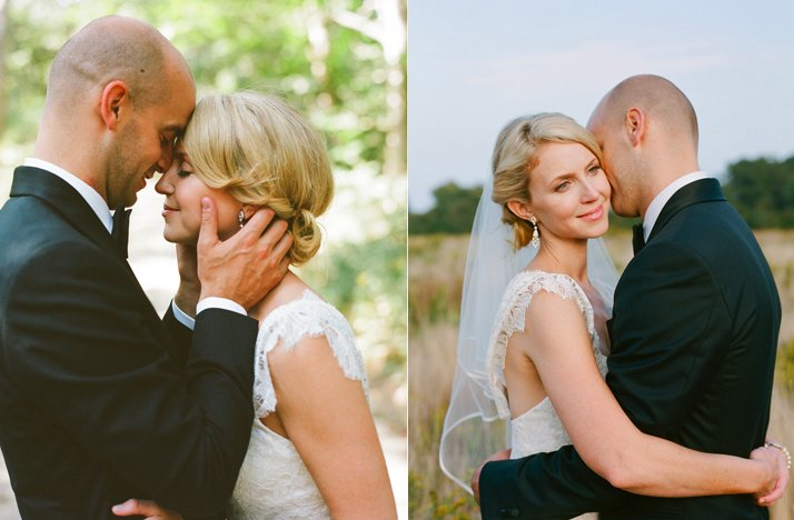 Blonde-bride-chic-chignon-wedding-updo-lace-wedding-dress.full