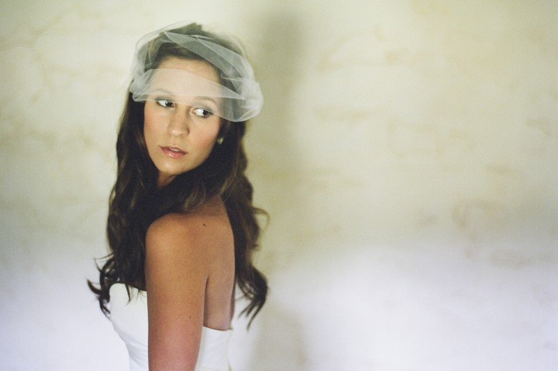 Romantic-bride-all-down-wedding-hair-strapless-white-bridal-gown.full