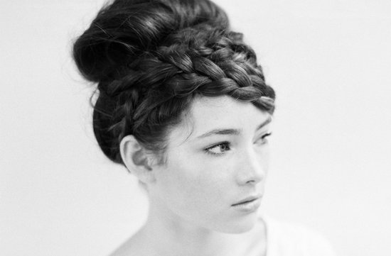 romantic wedding hairstyles braided updo