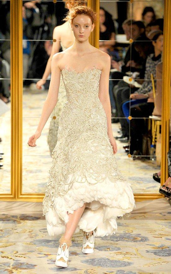 Fall 2012 wedding dress inspiration marchesa rtw cap for Wedding dresses asymmetrical hemline