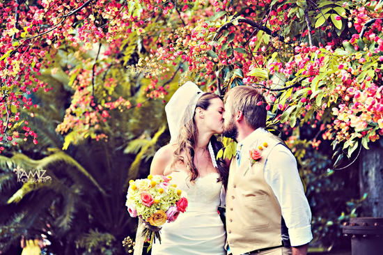 bright bridal bouquet outdoor wedding ceremony
