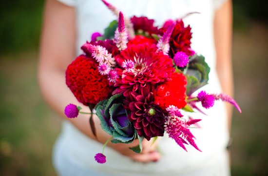 photo of Bright Bridal Bouquets