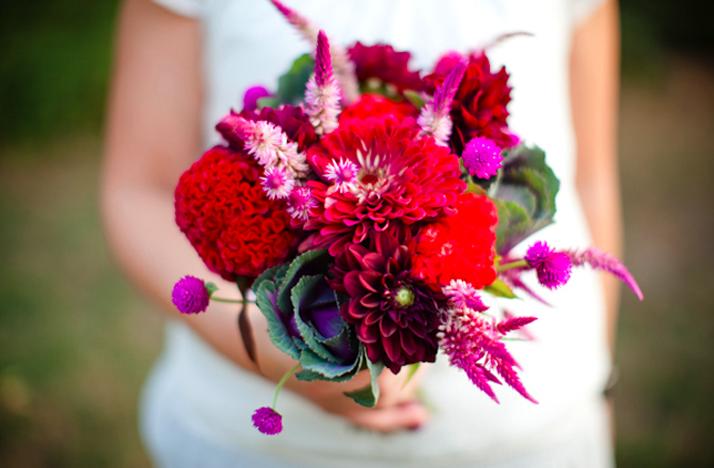 Bright Fall Bridal Bouquets of Bright Bridal Bouquets