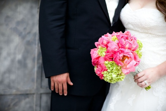 hot pink green bridal bouquet