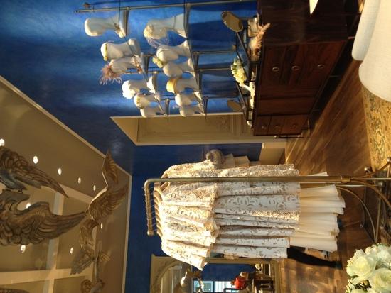 photo of BHLDN bridal salon Chicago wedding accessories headpieces