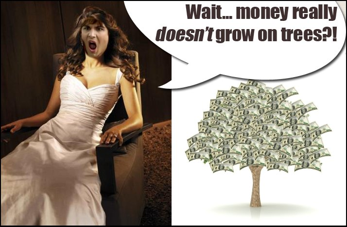 Shit Brides Say money doesnt grow on trees