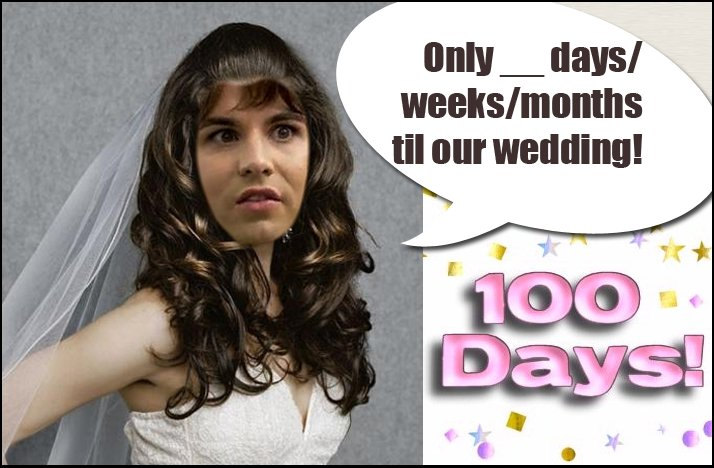 Shit Brides Say wedding countdown