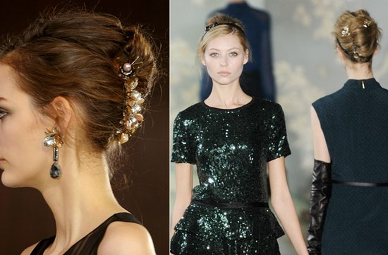 WEDDING HAIR MAKEUP INSPIRATION BRIDAL BEAUTY FALL 2012 Tory Burch