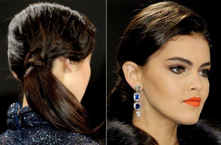 Wedding-hair-makeup-inspiration-bridal-beauty-fall-2012-dennis-basso-romantic-ponytail-red-orange-lips.full