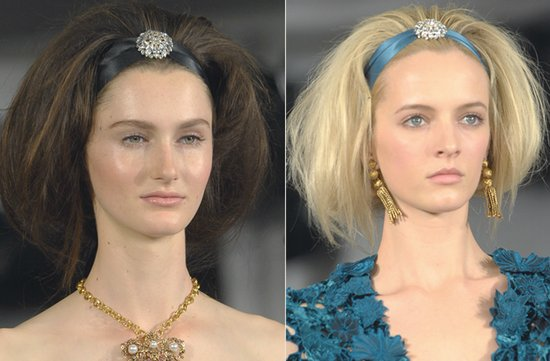 WEDDING HAIR MAKEUP INSPIRATION BRIDAL BEAUTY FALL 2012 OSCAR DE LA RENTA