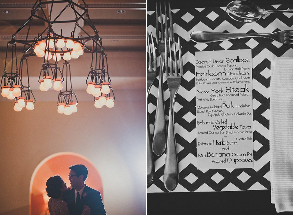 Vintage-meets-modern-wedding-reception-style-bride-groom-first-dance-dinner-menu.full