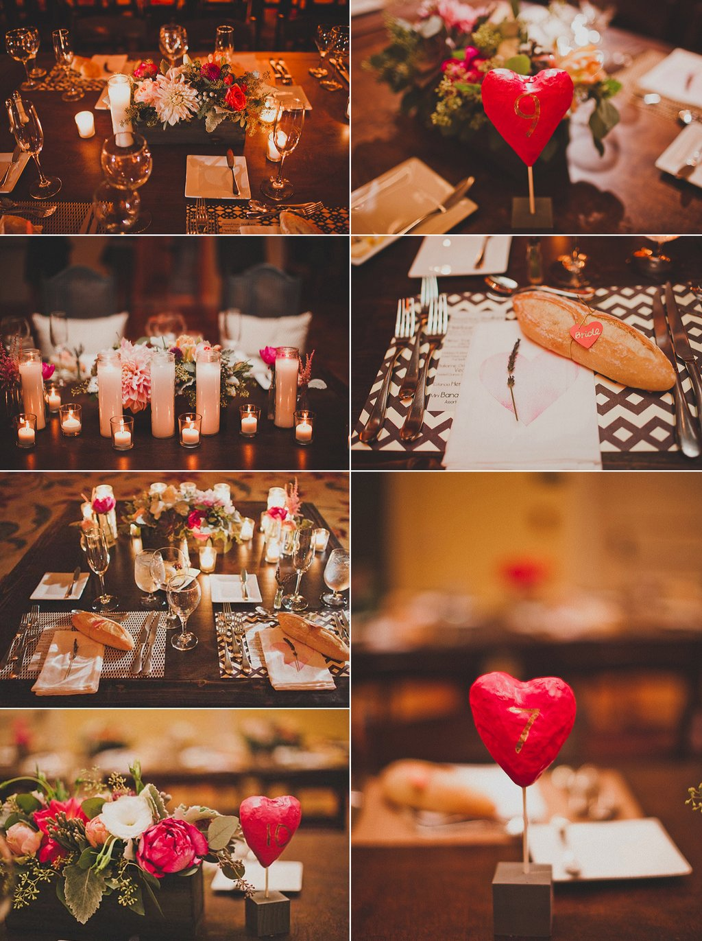 Romantic-wedding-reception-decor-candlelight-pink-red-ivory-wedding-flower-centerpieces.full