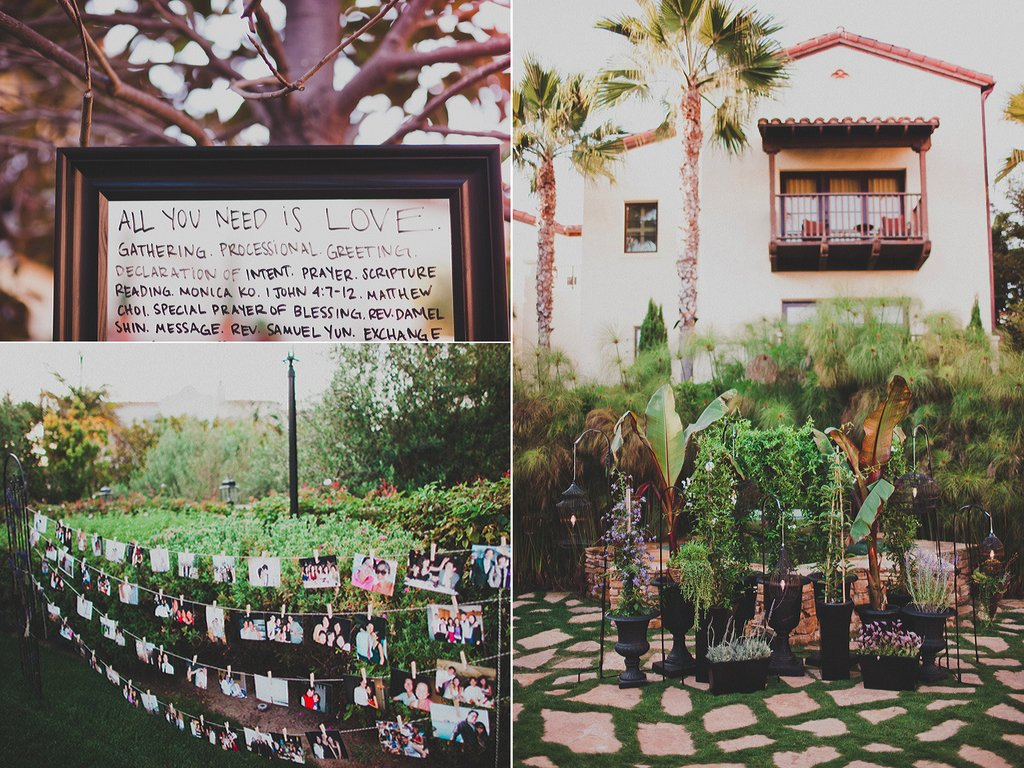 outdoor california wedding personalized DIY details