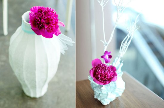 simple wedding centerpieces magenta wedding flowers