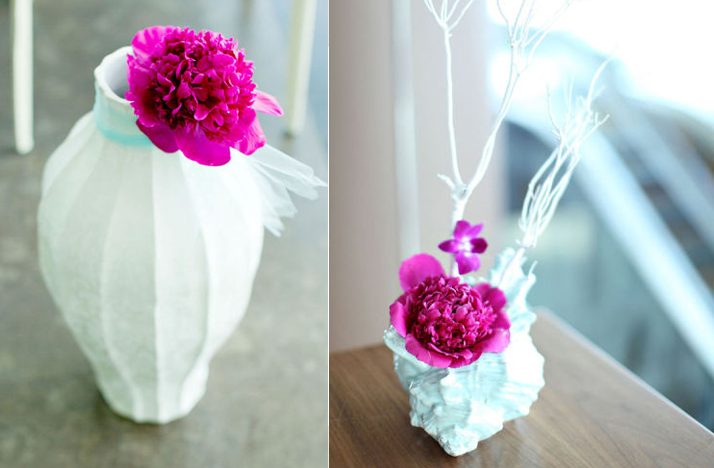 Simple Wedding Centerpieces With Flowers : Simple wedding centerpieces magenta flowers