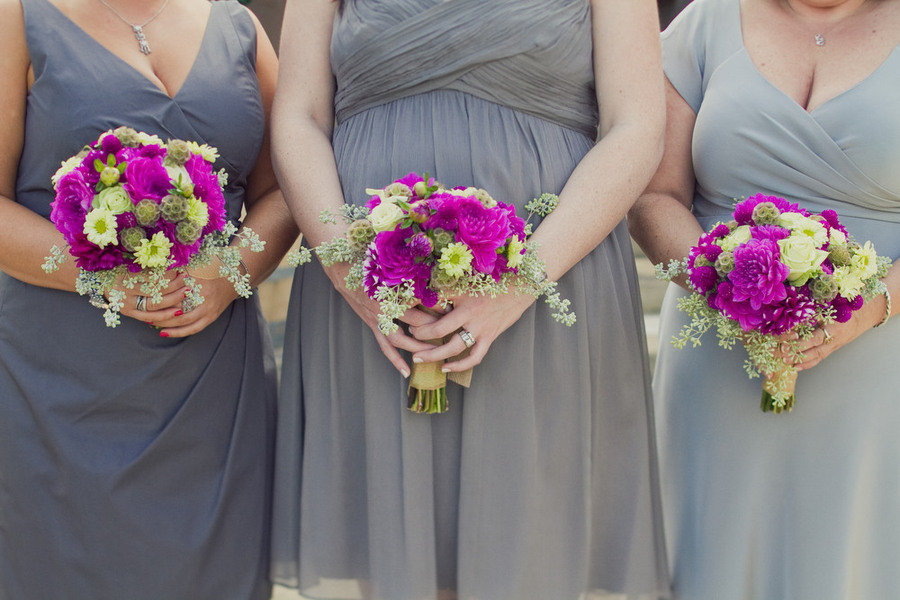 Magenta-wedding-flowers-bridesmaids-bouquets-touches-of-green.full