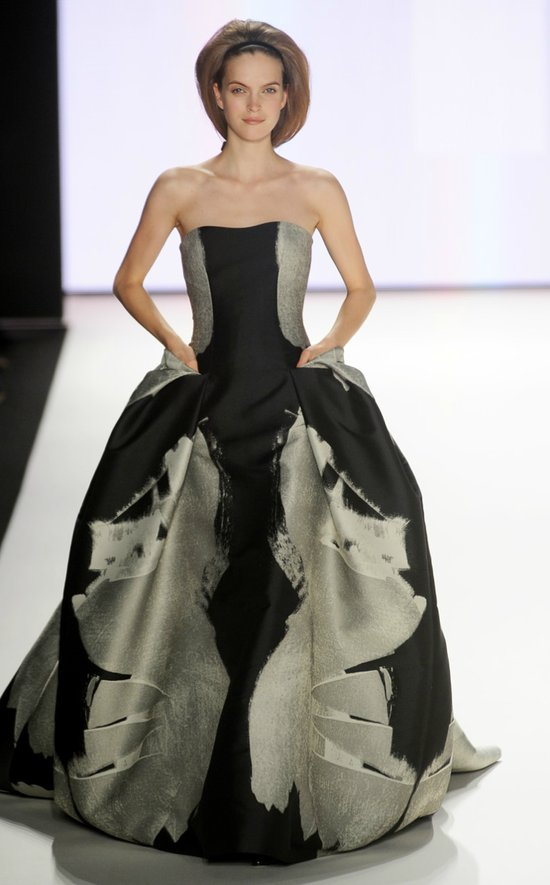 photo of wedding dress color palettes inspiration carolina herrera spring 2012
