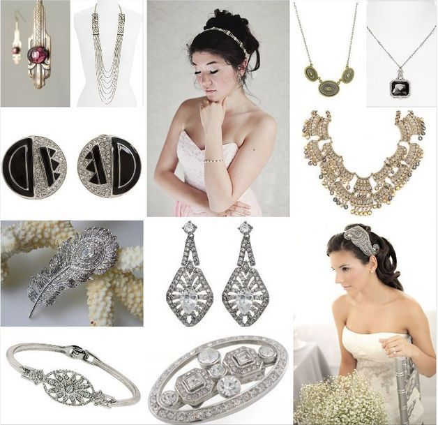 Affordable Art Deco Wedding Jewelry