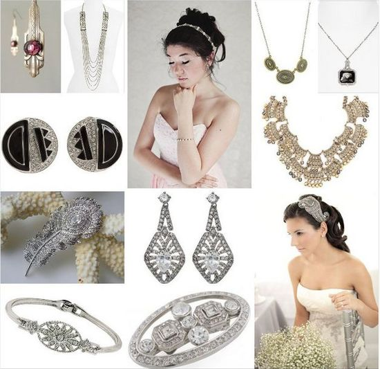 photo of Affordable Art Deco Wedding Jewelry