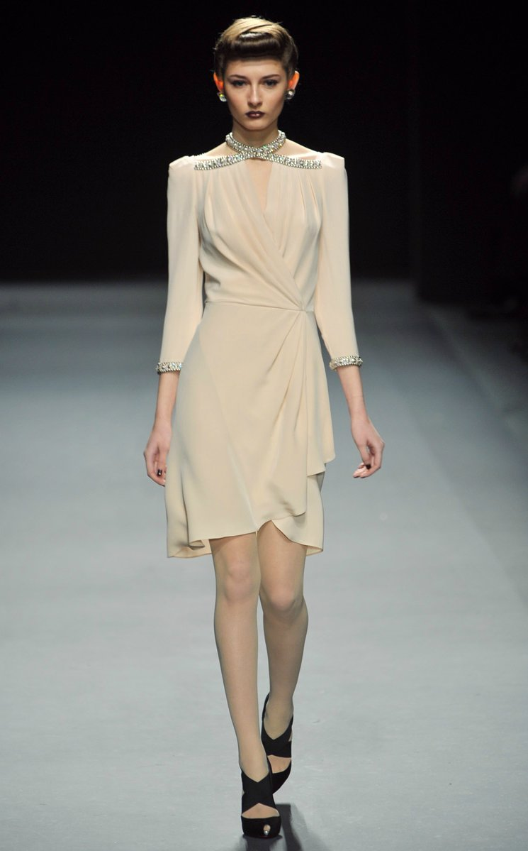 jenny packham RTR fall 2012 little white dress beaded shoulders