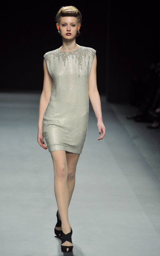 jenny packham RTR fall 2012 little white dress crystal encrusted