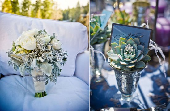 photo of Ice Blue + Sparkle Wedding Inspiration