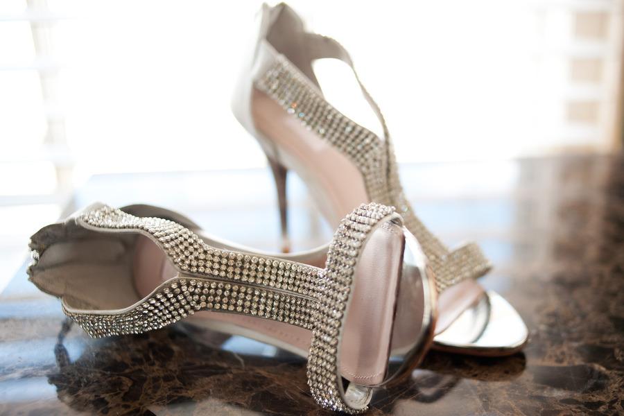 silver beaded wedding heels glamourous bridal style