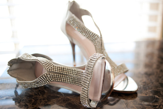 silver beaded wedding heels glamourous bridal style