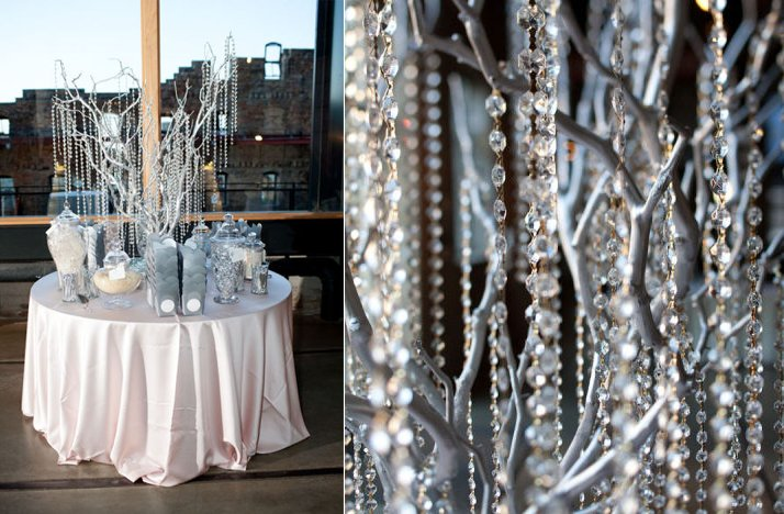 Winter-wedding-reception-decor-hanging-crystals.full