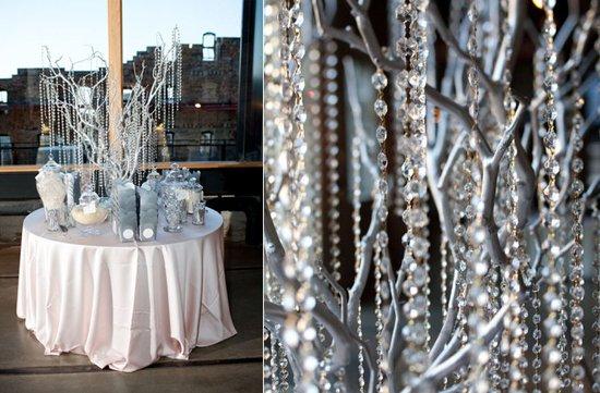 photo of Ice Blue + Sparkle Wedding Inspiration