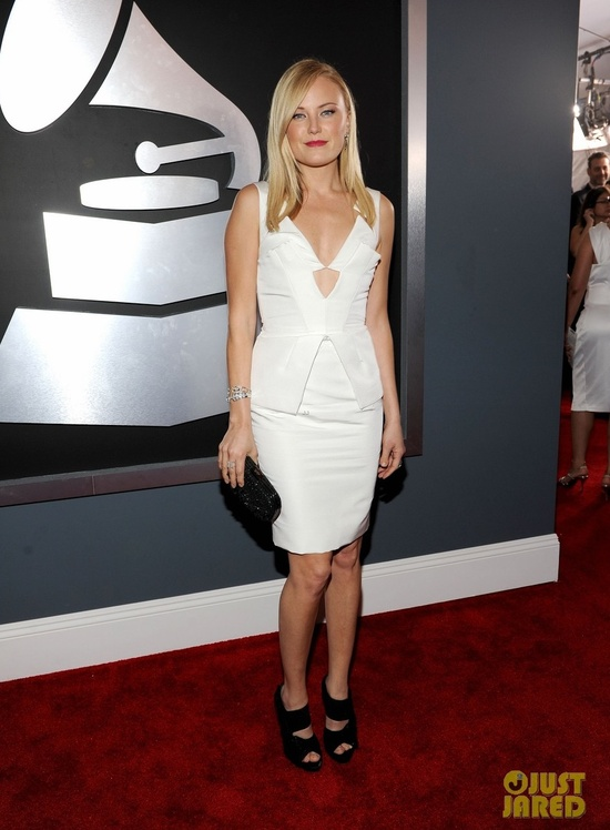 malin akerman grammys 2012 little white wedding dress for reception