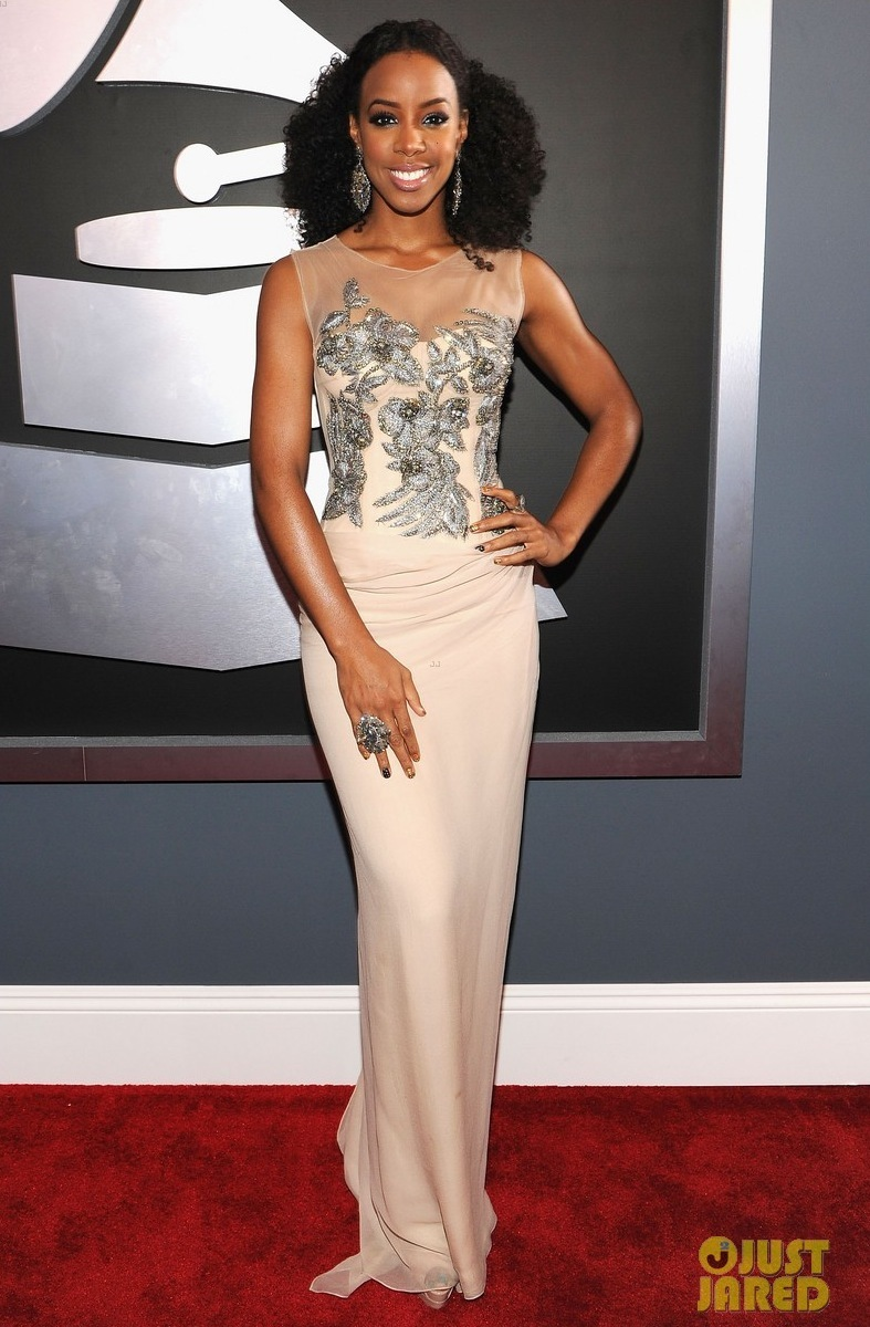 kelly rowland grammy awards 2012 wedding dress ideas illusion neckline