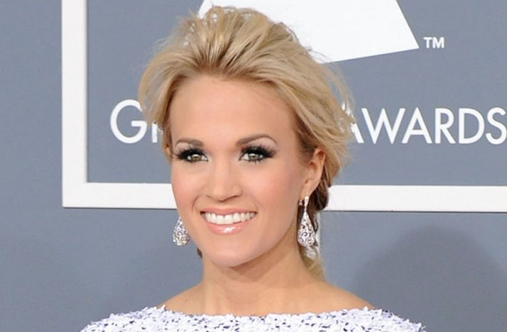 carrie underwood 2012 grammys wedding hair updo bridal ...
