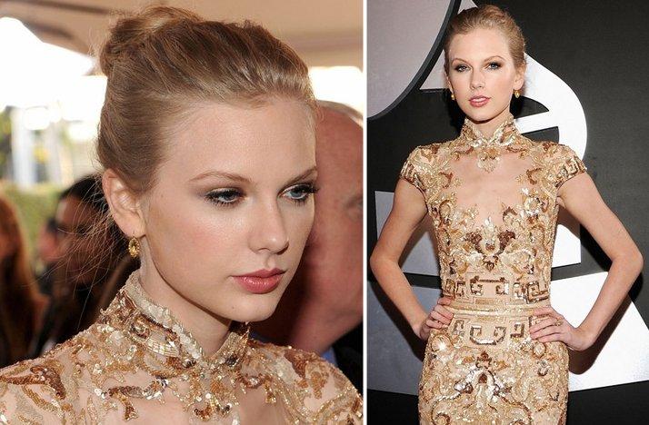 2012-grammys-taylor-swift-wedding-hair-ballerina-bun-natural-bridal-makeup.full