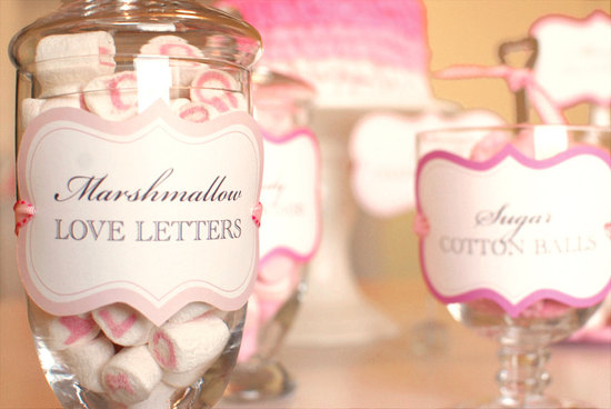 valentines day wedding ideas DIY favors pink