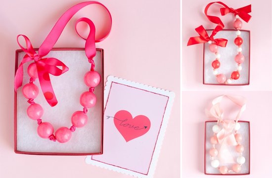 photo of DIY wedding projects valentines day themed wedding necklace
