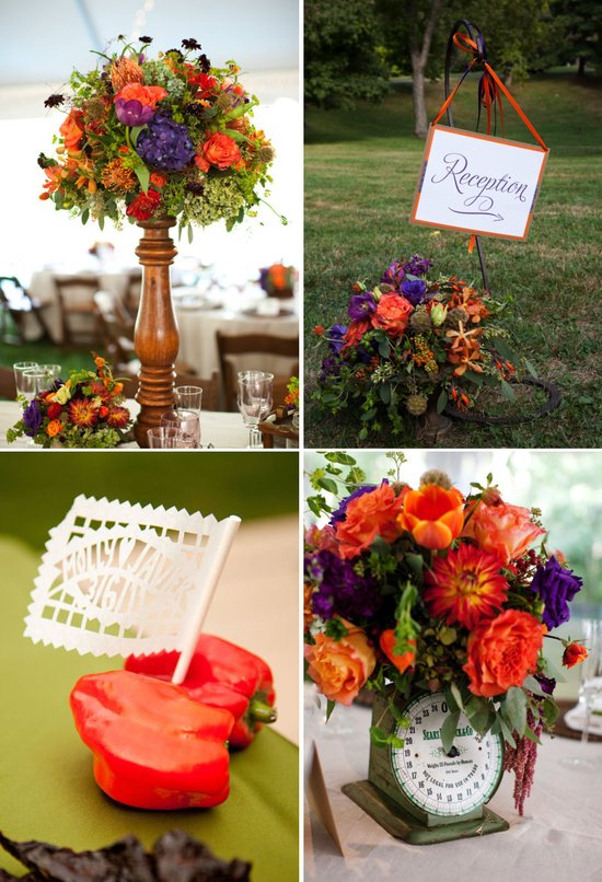 pantone color of the year tangerine wedding style trends 2012