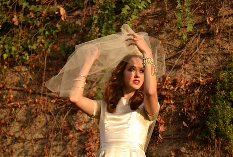 bridal style eco friendly vintage wedding attire