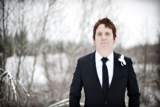 outdoor winter wedding photography edgy groom