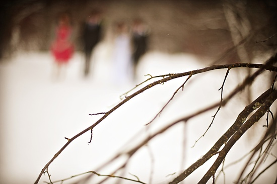 outdoor winter wedding photography rocker bride groom