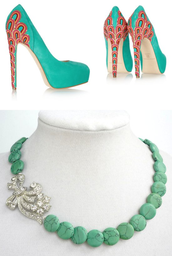 turquoise for brides something blue brian atwood heels